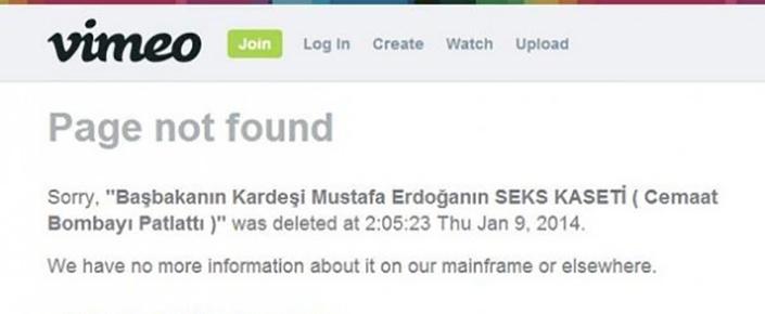 Vimeo'nun Kapanmasının Sebebi Mustafa Erdoğan'ın Seks Kaseti!