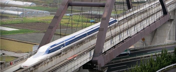 Japonya'da Hızlı Tren 590 km/s Hızla Rekor Kırdı
