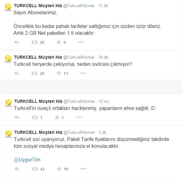 Turkcell Müşteri Hizmetlerinin Twitter Hesabı Hacklendi