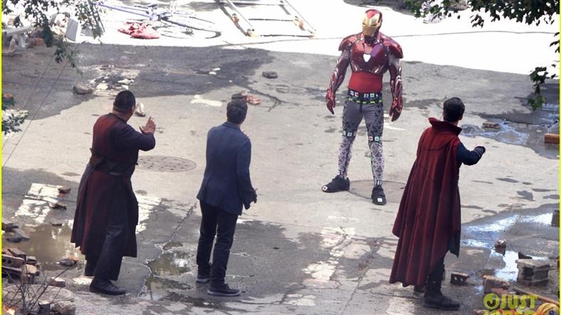 Avengers Infinity War Setinden Yeni Görüntüler Iron Man Yeni Zırhıyla
