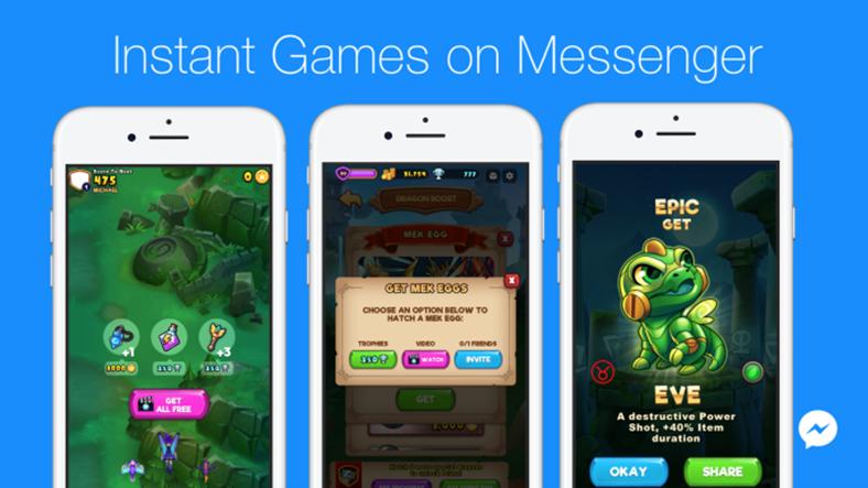 Facebook Messenger İçerisindeki quot Hızlı Oyunların quot Geliştiricileri Reklamdan Para
