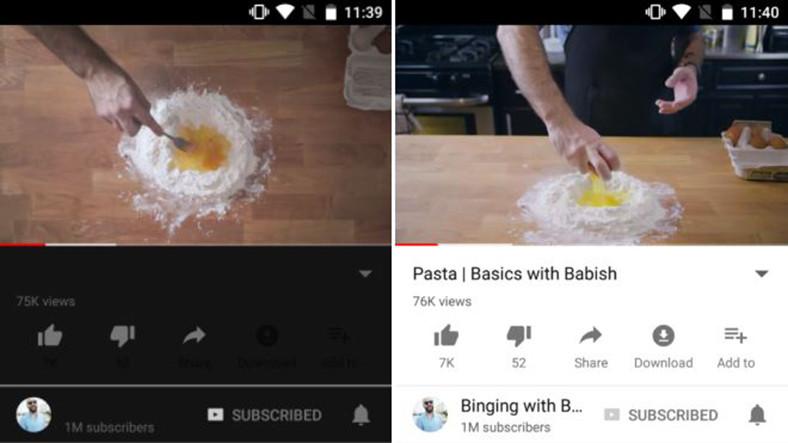 Youtube'un Mobil Uygulamasına