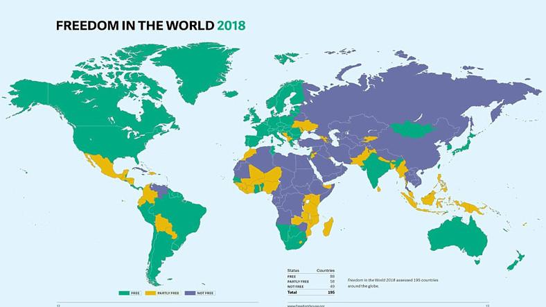 Dünyanın En Özgür Ülkeleri Açıklandı! Türkiye Ne Durumda?