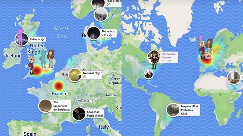 Snap Maps'te Sevgililer Günü'ne Özel Tasarım