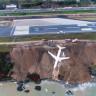 Trabzon'da Pistten Çıkan Uçağın Korkunç Görüntüleri!