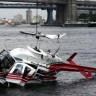 New York'ta Sulara Gömülen Fotoğraf Çekim Helikopterinin Kaza Görüntüleri! (Video)