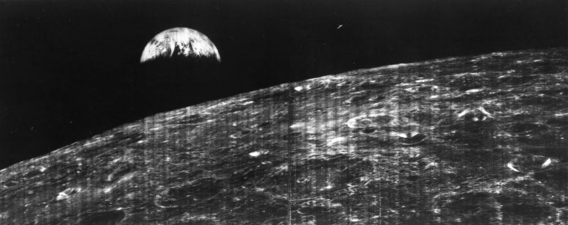 Dünya'nın aydan çekilmiş ilk fotoğrafı