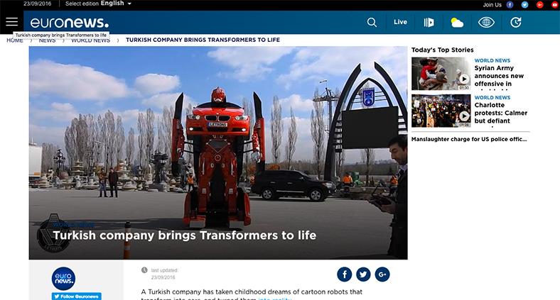 Türk Firması Transformers'ı Gerçek Yaptı (Euro News)