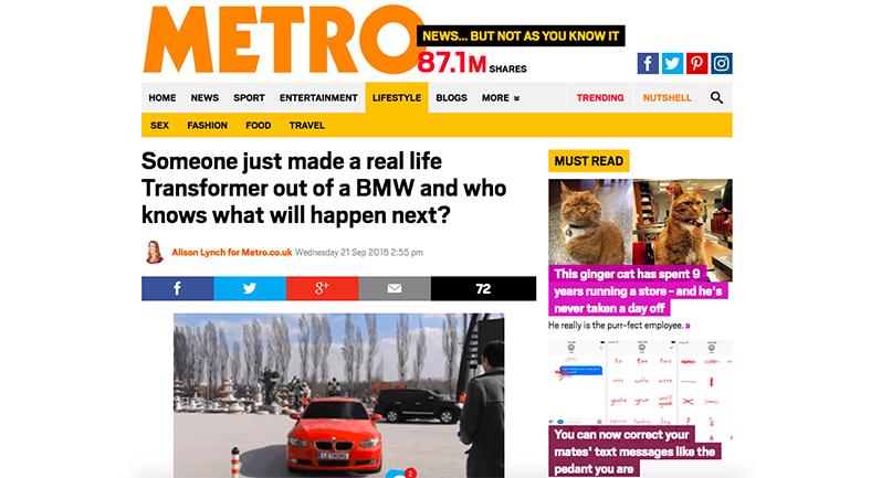 Birileri BMW'den Gerçek Bir Transformer Üretti, Sırada Ne Olacağını Kim Bilebilir? (Metro)