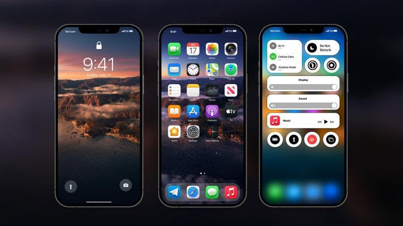 Yepyeni Bir Kontrol Merkezi Getiren iOS 15 Konsepti