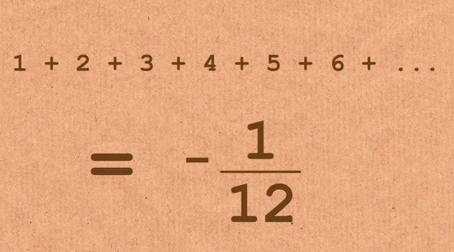 Sonucu Şaşırtıcı Bir Matematik İşlemi: 1+2+3+4+5…= -1/12