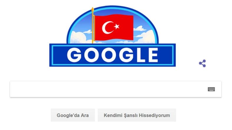 Google, 29 Ekim Cumhuriyet Bayramı'na Özel Doodle