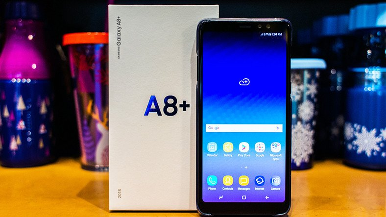 The Samsung Galaxy A8 + (2018) updates the Android 9 0 Pie Update
