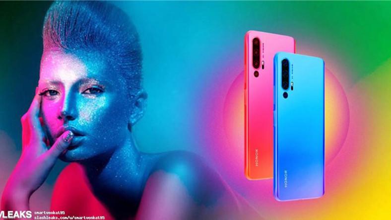 Honor 20'nin Görselleri Sızdırıldı: 4 Farklı Renkte Gelecek