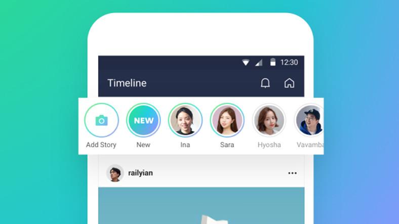 Mesajlaşma Uygulaması Line'a da Hikayeler Özelliği Geliyor ile ilgili görsel sonucu
