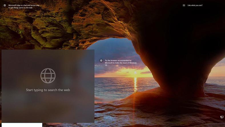 Microsoft, Kilit Ekranına Arama Kutusu Getirmeyi Test Ediyor