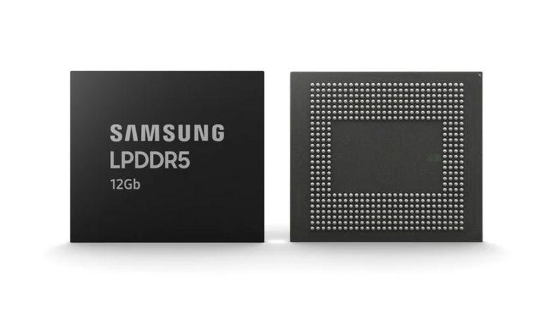 Samsung, 12 GB'lık LPDDR5 Mobil DRAM'lerin Üretimine Başladı