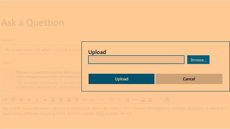 Windows 10'daki Garip 'Turuncu Ekran Görüntüsü Hatası'