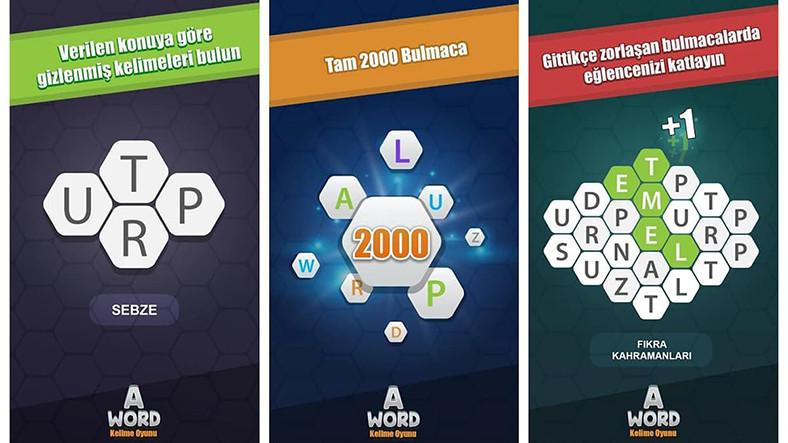 İnterneti Kasıp Kavuran A Word Benzeri 4 Mobil Kelime Oyunu