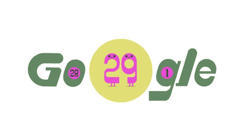 Google, Artık Yıla Özel 29 Şubat Doodle'ını Yayınladı
