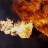 Toplam 50 Kamerayla Çekilmiş Mükemmel Ateş Gösterisi