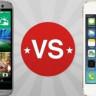 HTC One M8 iPhone 5S Karşılaştırması