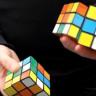 Hokkabazlığın Dibine Vurarak Aynı Anda 3 Rubik Küpü Çözmek