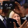 Obama ve Merkel'in Sanal Gerçeklik Cihazı ile İmtihanını Gösteren 5 Fotoğraf!