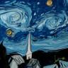 Van Gogh'un Ünlü Resmine Ebru Sanatıyla Hayat Veren Türk Sanatçının Milyonlarca Kez İzlenen Videosu