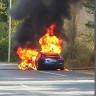 Tesla Model S, Test Sürüşü Sırasında Alev Alev Yandı