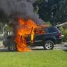Patlayan Galaxy Note 7 Serisinde Bugün: Bu Sefer Bir Jeep Küle Döndü!