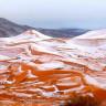 Sahra Çölü'ne 37 Yıl Sonra İlk Kez Kar Yağdı!