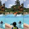 Kendisini Havuzun Üzerinde Taş Sektirir Gibi Sektiren Adamın Twitter'da Virale Dönen Videosu