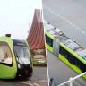 Dünyanın İlk 'Raysız Treni' Hizmete Girdi!