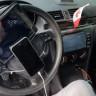 Aracının Direksiyonuna Tablet ve iPhone Bağlayan Aşırı Rahatsız Sürücü
