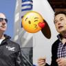 Elon Musk'tan Kendisine Başarılar Dileyen Jeff Bezos'a 'Öpücüklü' Teşekkür