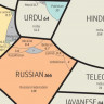 İçinde Türkiye'nin de Bulunduğu, Dünyanın En Çok Konuşulan Dillerini Gösteren Harita