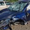 Tesla Model 3'ün Taklalar Attıktan Sonra Sapasağlam Kaldığı Kaza