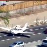 California'da Bir Uçak, Araçların Seyir Ettiği Otobana Acil İniş Yaptı