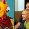 8 Yaşındaki Çocuğun, Fortnite'a Gönderdiği Kostümü Oyunda Gördüğü Anlar (Video)