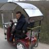 Bedensel Engelli İsmet Top, Kendisine Güneş Enerjisi ile Çalışan Motor Yaptı