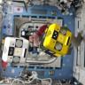 NASA, ISS'deki Astrobee Robotu Bumble'ın İlk Fotoğrafını Paylaştı