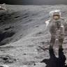 47 Yıl Önce Ay'a Giden Apollo Astronotunun İlginç Ay'da Yürüme Anısı