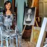 Dünyanın İlk Yapay Zeka Sanatçısının Sergilediği Atölye Çalışması (Video)