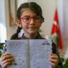 10 Yaşındaki Elanur, Uluslararası Caribou Matematik Yarışması'nda Birinci Oldu