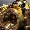 14 Karat Altın Kaplama ve 34 Adet Elmas İle Donatılmış Canon 5D Mark III Kolyesi